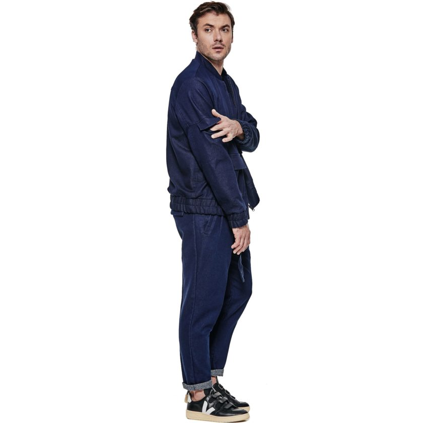 Jaqueta bomber Jeans - Lateral